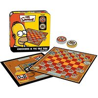 The Simpsons Checkers & Tic Tac Toe Game Set